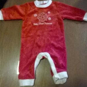 Old Navy Babys First Christmas Romper 3-6 Months